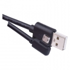 USB A pistik - USB micro B nurgaga mittepolaarne pistik 1m
