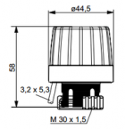 Heimeier EMOtec elektrotermiline ajam